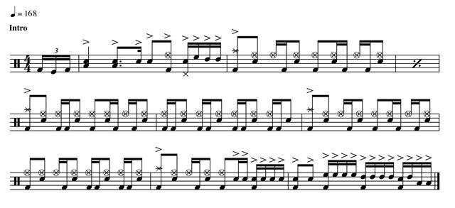 brooks wackerman musical notes
