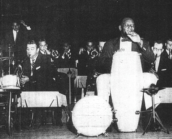 candido playing with band