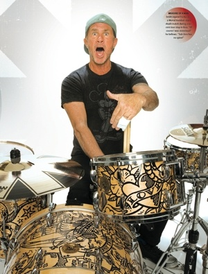 chad smith with drums