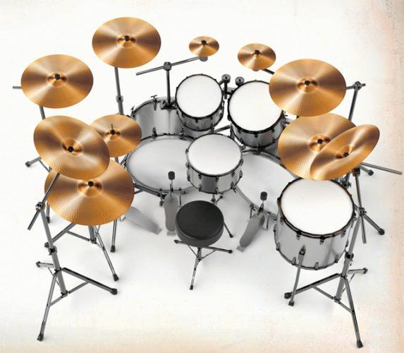 gene hoglan's drum set
