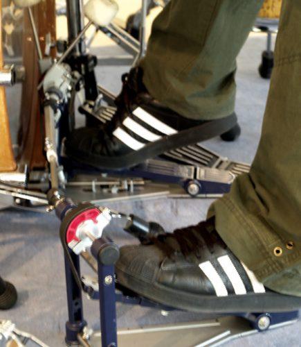 lang pedals heel up
