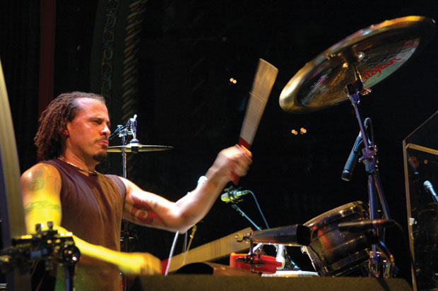 marc quinones playing the drum