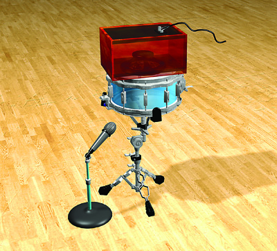 reamping drums with box